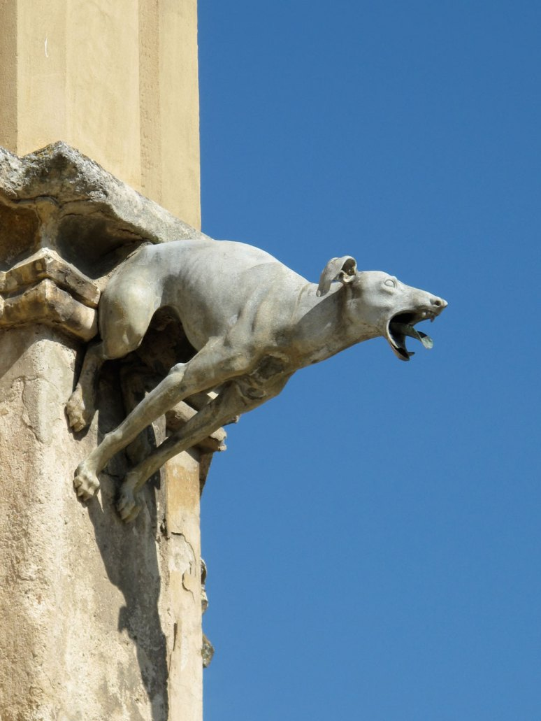 Dog gargoyle at Lednice