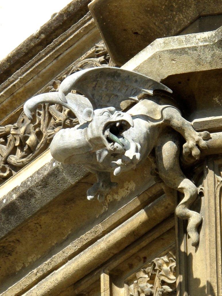 Dragon gargoyle at Lednice